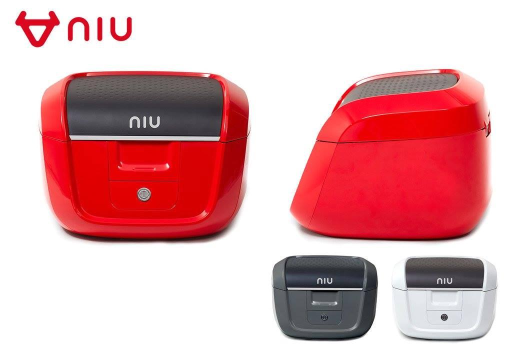 top case mit halterung bzw gep ckstr ger niu n1s rot grau. Black Bedroom Furniture Sets. Home Design Ideas