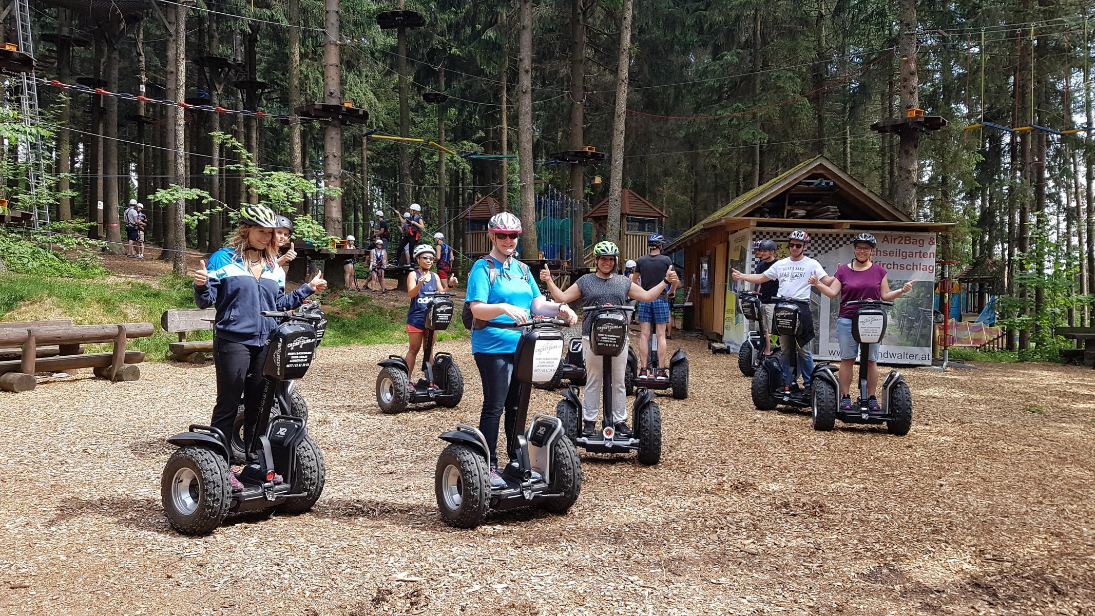Segway Tour Bogenschießen oder Hochseilgarten Altenberg crosstours